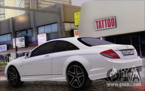 Mercedes-Benz CL65 AMG for GTA San Andreas back left view