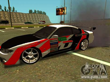 Nissan Silvia S15 Team Dragtimes for GTA San Andreas left view