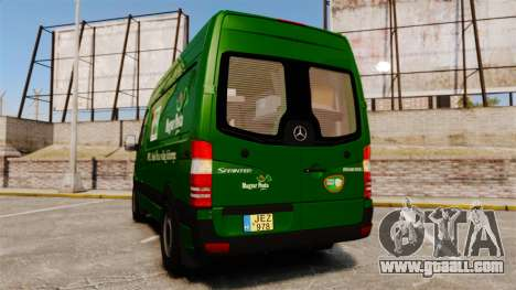 Mercedes-Benz Sprinter 2500 2011 Hungarian Post for GTA 4 back left view
