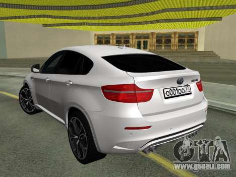 BMW X6M 2010 for GTA San Andreas back view