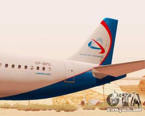 Airbus A320-200 Ural Airlines for GTA San Andreas back view