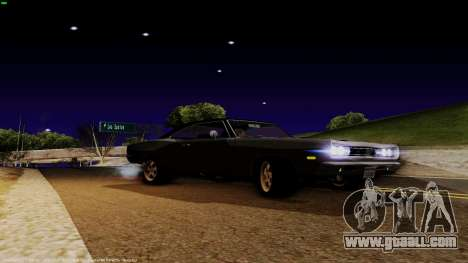 Dodge Coronet RT 1969 440 Six-pack for GTA San Andreas back left view