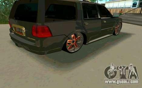 Lincoln Navigator DUB Edition for GTA San Andreas back view