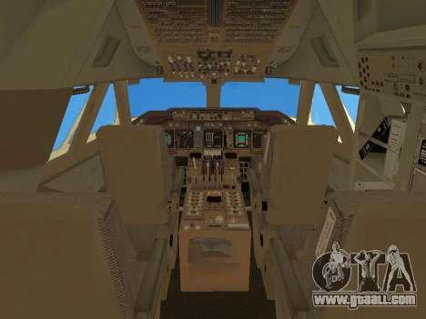 Boeing 747 Air China for GTA San Andreas interior