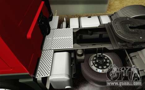 Mercedes-Benz Actros for GTA San Andreas interior