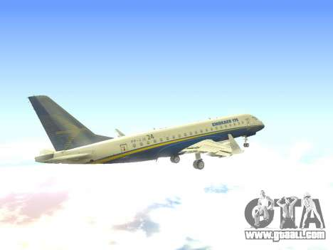 Embraer 175 HOUSE for GTA San Andreas side view
