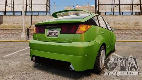 Karin Dilettante new wheels for GTA 4 back left view