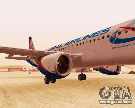 Airbus A320-200 Ural Airlines for GTA San Andreas left view
