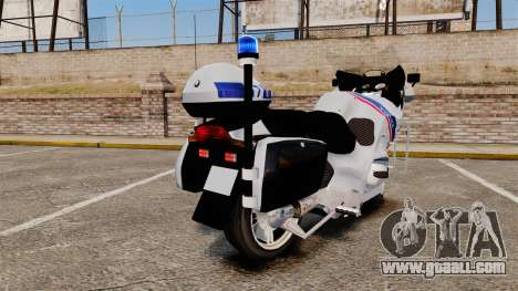 BMW R1150RT Police nationale [ELS] for GTA 4 right view