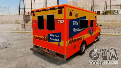 Brute CHH Ambulance for GTA 4 back left view