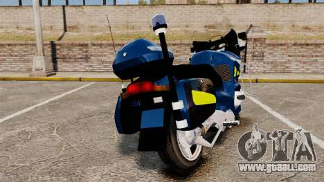 BMW R1150RT Gendarmerie [ELS] for GTA 4 back left view