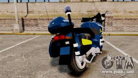 BMW R1150RT Gendarmerie [ELS] for GTA 4 back left view