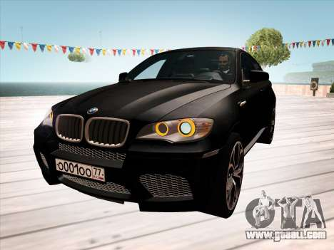 BMW X6M 2010 for GTA San Andreas interior