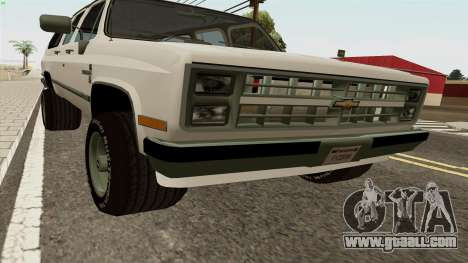 Chevrolet Suburban 2500 1986 for GTA San Andreas left view