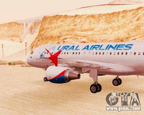 Airbus A320-200 Ural Airlines for GTA San Andreas right view