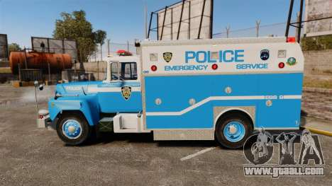 Mack R Bronx 1993 NYPD Emergency Service for GTA 4 left view
