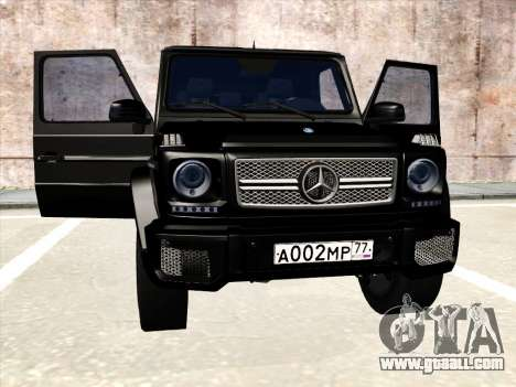 Mercedes-Benz G65 AMG 2013 for GTA San Andreas inner view