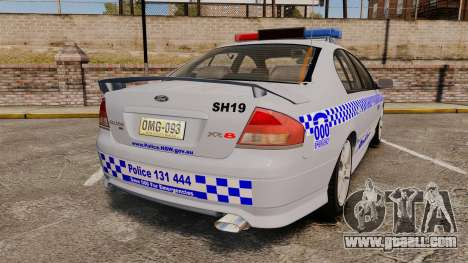 Ford Falcon XR8 Police Western Australia [ELS] for GTA 4 back left view