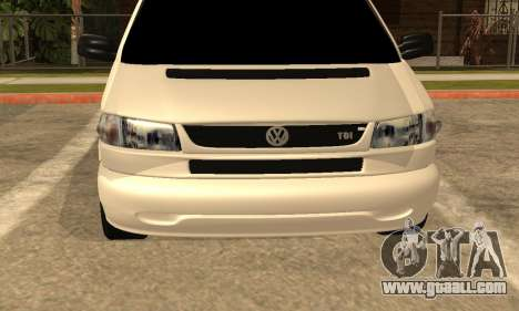 Volkswagen T4 Transporter for GTA San Andreas back view