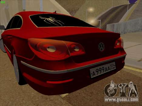 Volkswagen Passat CC for GTA San Andreas right view