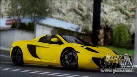McLaren MP4-12C Spider for GTA San Andreas back view