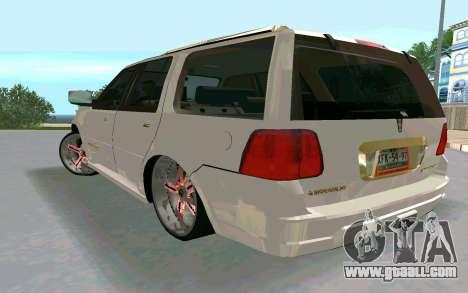 Lincoln Navigator DUB Edition for GTA San Andreas left view