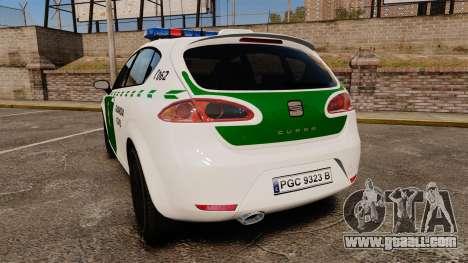 Seat Cupra Guardia Civil [ELS] for GTA 4 back left view