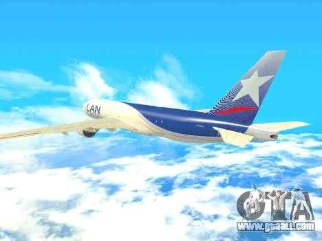 Boeing 777 LAN Cargo for GTA San Andreas inner view
