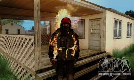 Kopassus Skin 1 for GTA San Andreas sixth screenshot
