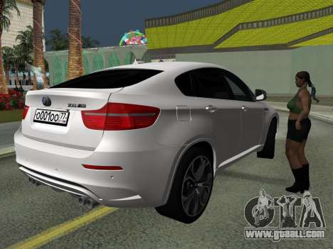 BMW X6M 2010 for GTA San Andreas side view