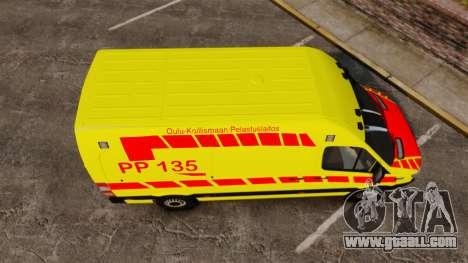 Mercedes-Benz Sprinter Finnish Ambulance [ELS] for GTA 4 right view