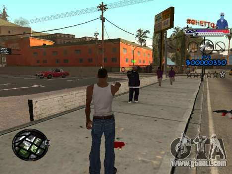 The new C-HUD Ghetto for GTA San Andreas second screenshot