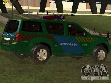 Nissan Pathfinder Police for GTA San Andreas side view