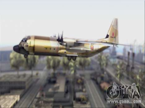 C-130 Hercules Royal Moroccan Air Force for GTA San Andreas back left view