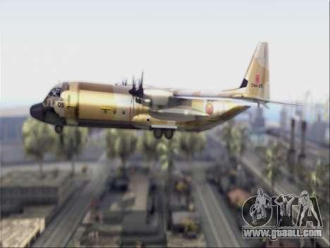 C-130 Hercules Royal Moroccan Air Force for GTA San Andreas back left view