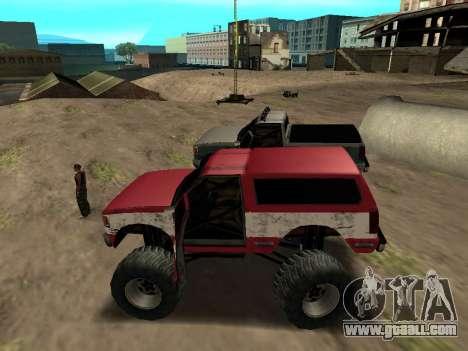 Street Monster for GTA San Andreas back left view