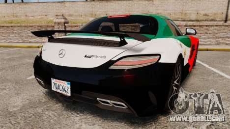 Mercedes-Benz SLS 2014 AMG UAE Theme for GTA 4 back left view