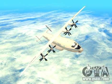 An-22 Antei for GTA San Andreas bottom view