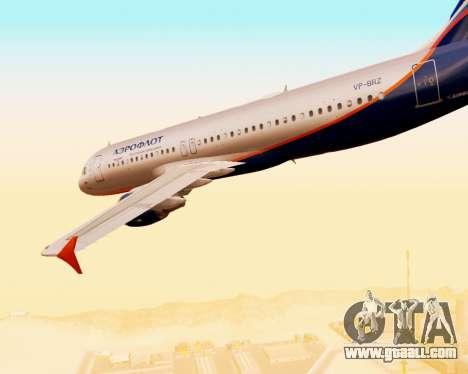 Airbus A320-200 Aeroflot for GTA San Andreas bottom view