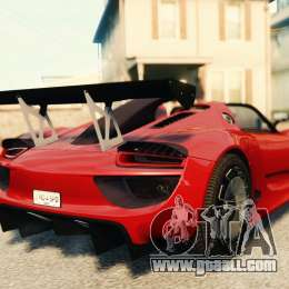 porsche 918 spider body kit final for gta 4. Black Bedroom Furniture Sets. Home Design Ideas