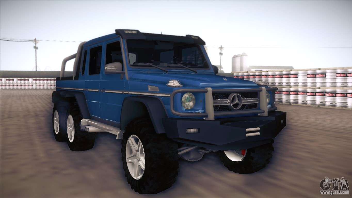 Mercedes benz g63 amg 6x6 for gta san andreas for Mercedes benz amg 6x6