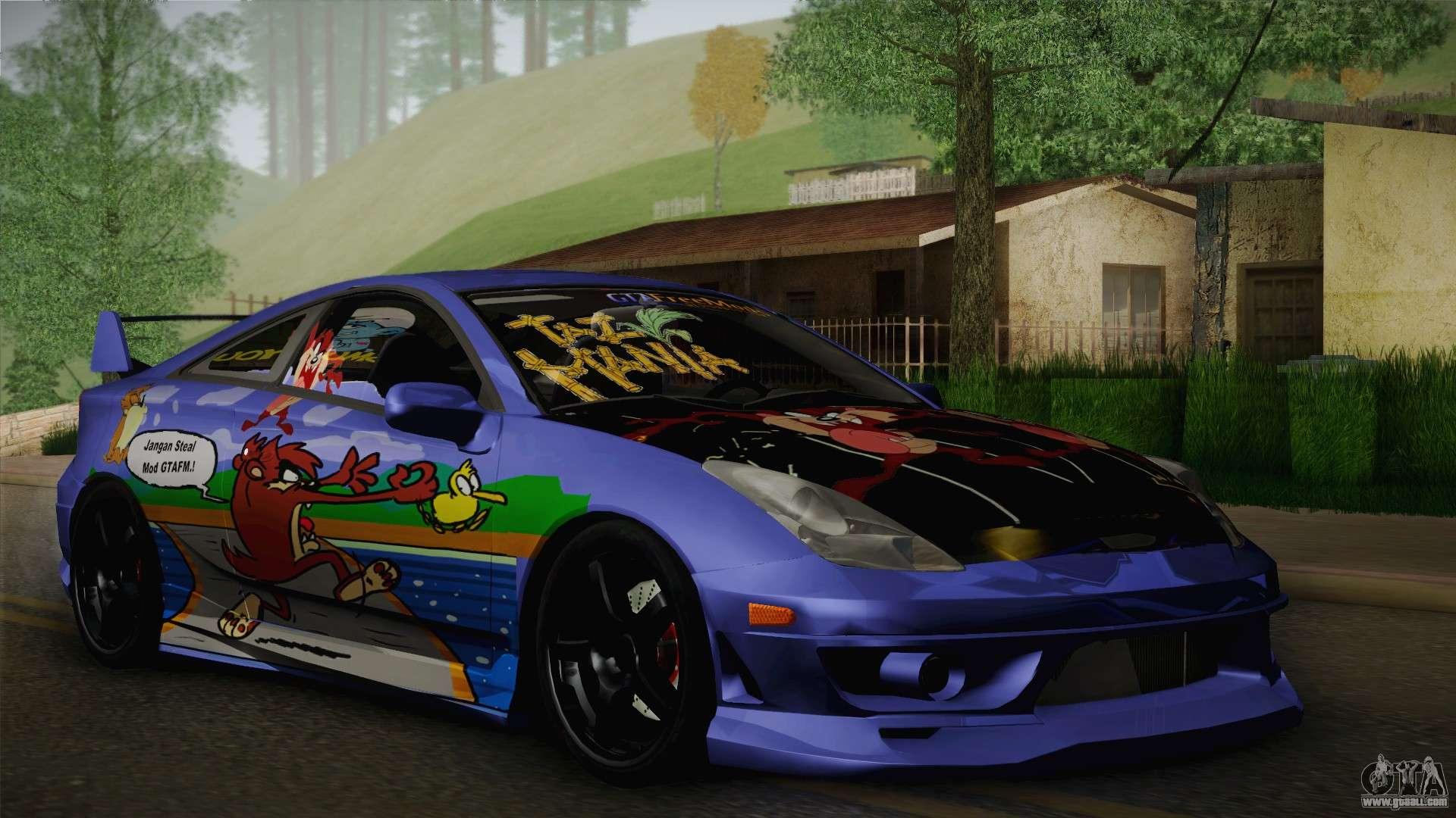 Toyota Celica Taz Mania Street Edition for GTA San Andreas