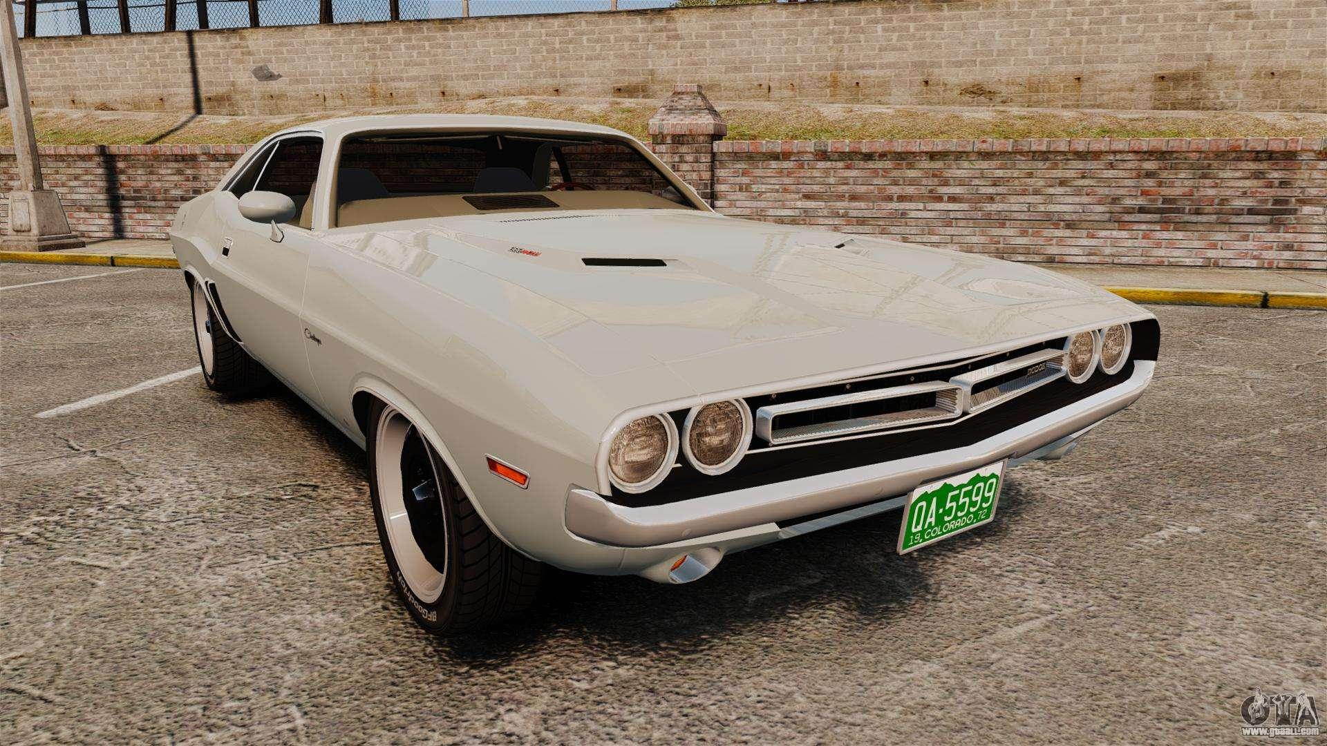 Dodge challenger 1971 vanishing point for gta 4