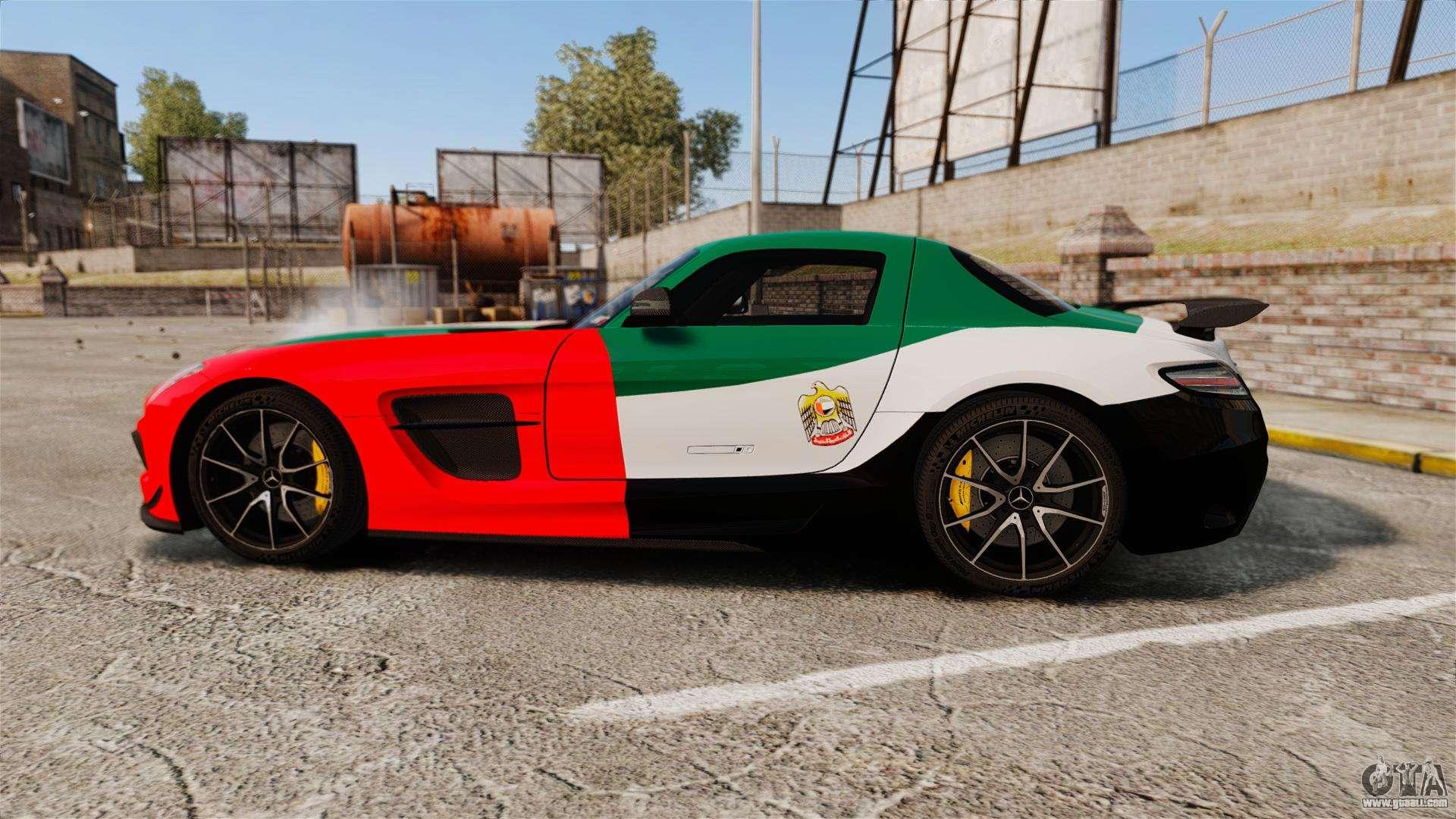 Mercedes-Benz SLS 2014 AMG UAE Theme for GTA 4