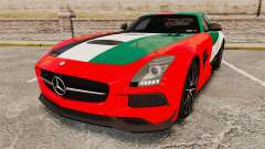 Mercedes-Benz SLS 2014 AMG UAE Theme for GTA 4