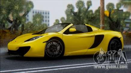 McLaren MP4-12C Spider for GTA San Andreas