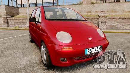 Daewoo Matiz SE 1998 for GTA 4