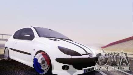 Peugeot 206 Mehmet ALAN for GTA San Andreas