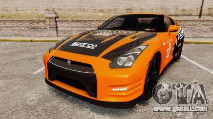 Nissan GT-R 2012 Black Edition NFS Underground for GTA 4
