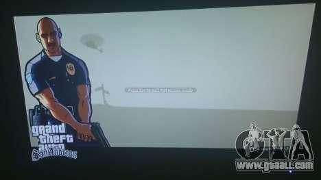 GTA San Andreas Loading Screen for GTA 5